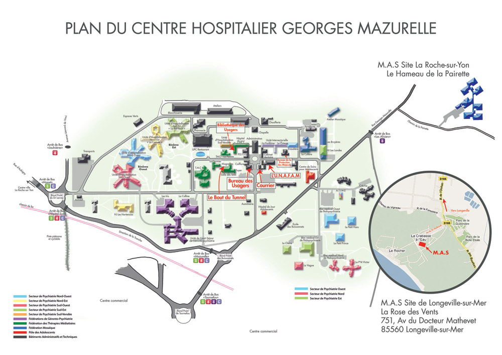 pr sentation de l 39 tablissement centre hospitalier georges mazurelle. Black Bedroom Furniture Sets. Home Design Ideas